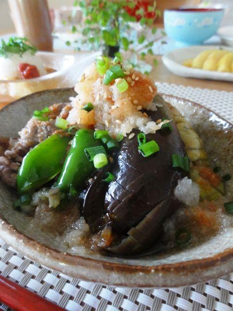 牛肉と茄子のスタミナ梅おろし。 | 美肌レシピ