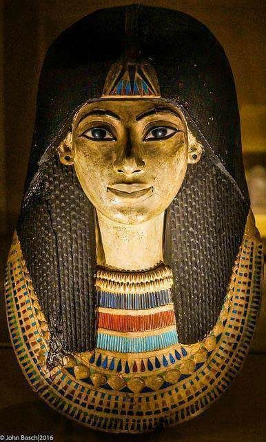 Sarcophagus for Ancient Egyptian unknown woman. Photo by John Bosch