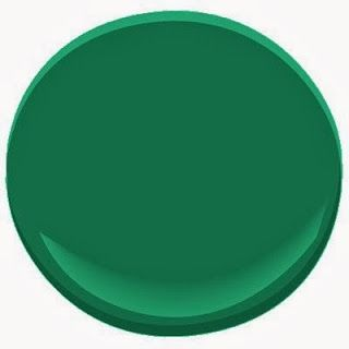 "Last, but certainly not least, my very favorite emerald green is  8. Benjamin Moore ""Very Green"""