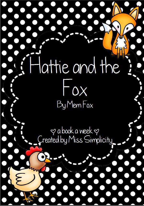 Hattie and the Fox literacy activities