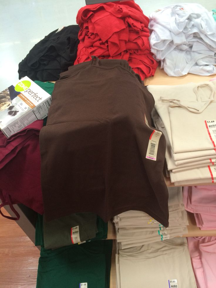 Cotton camisole from Walmart, $1.68, brown for navy top?, pink for pink Talbots crinkle blouse