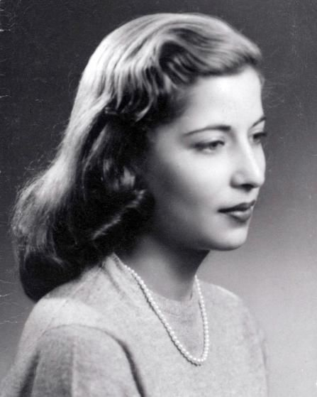 <b>December,  1953</b> Studio photograph of Ruth Bader, taken in Dec. 1953 when she was a Senior at Cornell University.