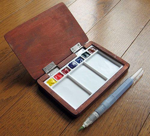 wood / watercolor sketch kits