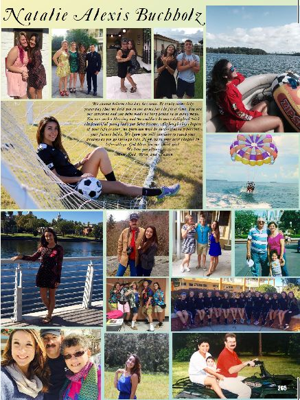 Full page-2016 Yearbook staff created Senior Yearbook Ad for Pasco High School Yearbook.