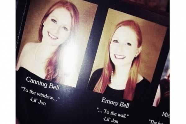 10 Hilarious Twins In Yearbooks - yearbook, senior quote ...