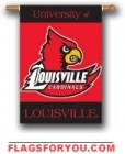 Louisville Cardinals Double Sided Outdoor Hanging Ban - 2 left