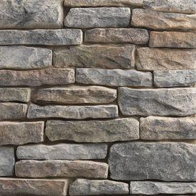 Ply Gem Stone Shadow Ledgestone 10-sq ft Shade Mountain Faux Stone Veneer