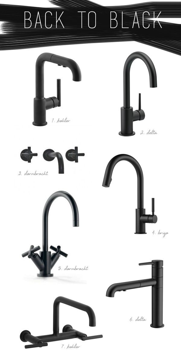 Black is the new black! Try a flat black kitchen or bath faucet!! #Brizo #Dornbracht #Kohler