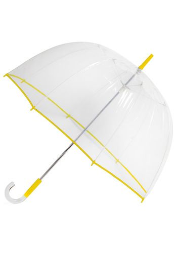 1970s bubble umbrellas are backClouds Clear, Clear Umbrellas, Bubbles Umbrellas, Canary, Accessories, Yellow Trim, Modcloth Com, Retro Vintage, Rainy Days