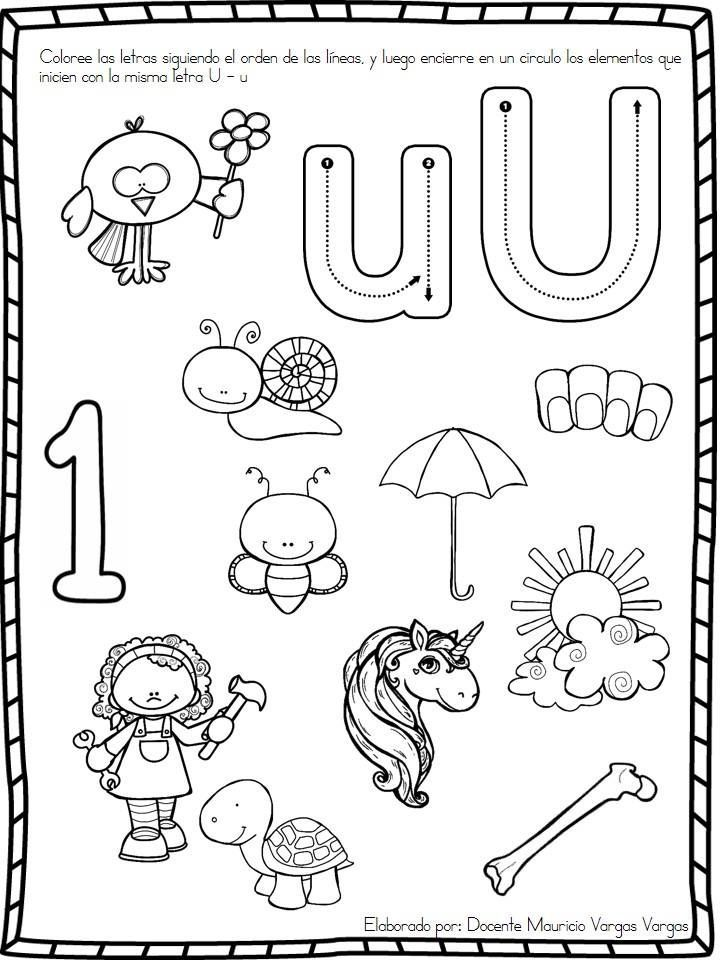 Educación Preescolar: Práctica de vocales