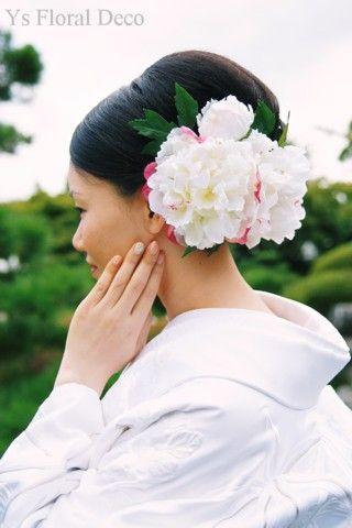 芍薬のヘッドドレス @宇都宮グランドホテル ys floral deco