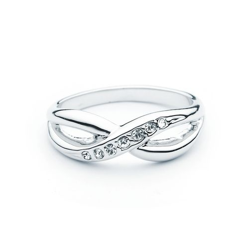 Designer Infinity X Ring with Swarovski® Crystals