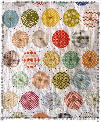 Polka dot quilt tutorial.  Not sure I ever see myself making a quilt, but this could be cute for a trundle bed in Morgan's room.