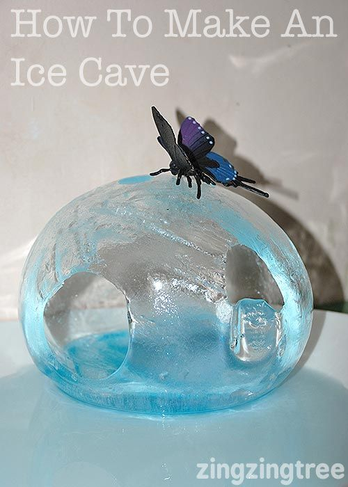 How to make an ice cave