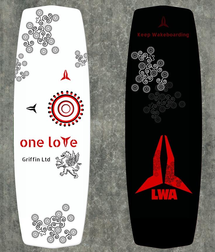 Wakeboard Graphic Design  {LWA Wakeboards is a progressive wakeboard company}.