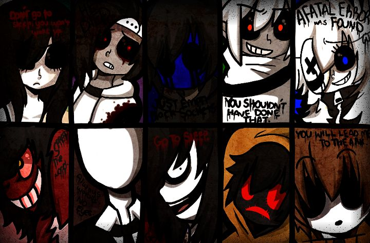 Anime Characters Catchphrases : Creepypasta characters and phrases clocky pinterest