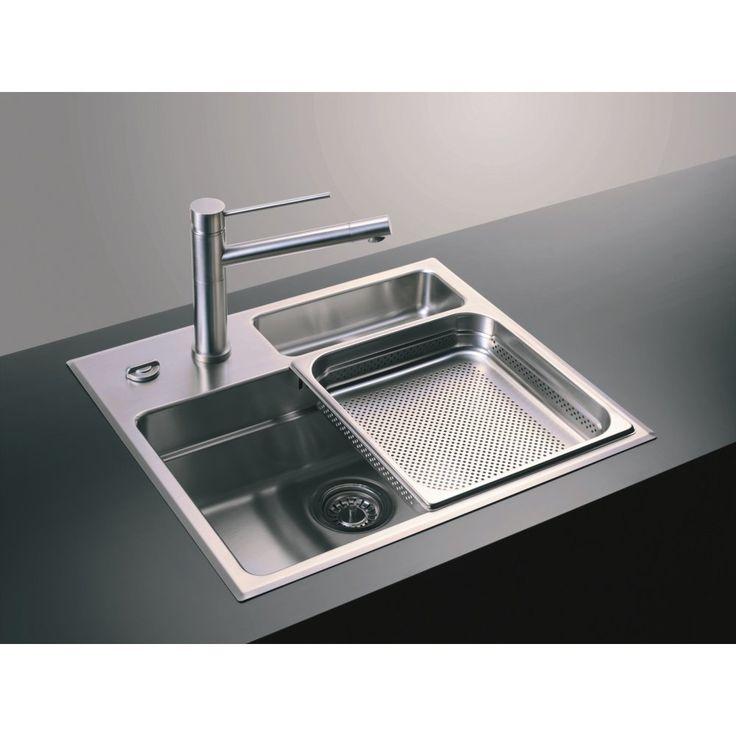 ... 25 Bowl 600mm x 517mm Brushed Steel Undermount Kitchen Sink 72016603