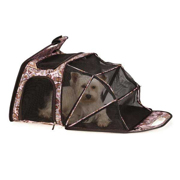 Ultimate Tent Pet Carrier - Pink Paisley at BaxterBoo