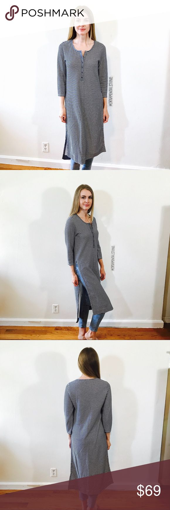 POSTMARK ANTHRO STRIPED EXTRA LONG TUNIC TOP #A68 EUC, no issues. Anthropologie Tops Tunics
