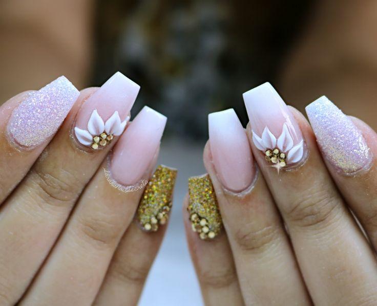 baby boomer wedding nails #weddingnails #babyboomernails