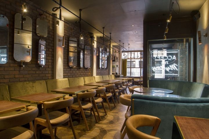 Grill Restaurant Interior : Sackville s bar grill by b designers london uk