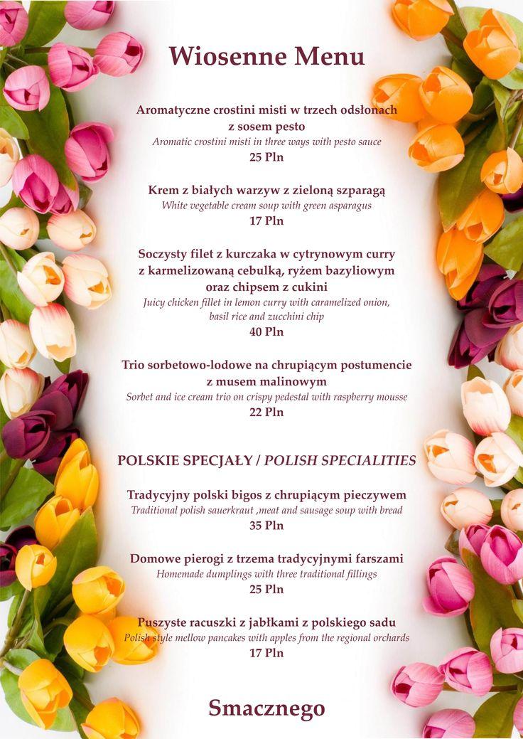 Pachnące wiosenną świeżością Menu! #spring #menu #new #goodfood #enjoy #grandhotel #www.grand.pl
