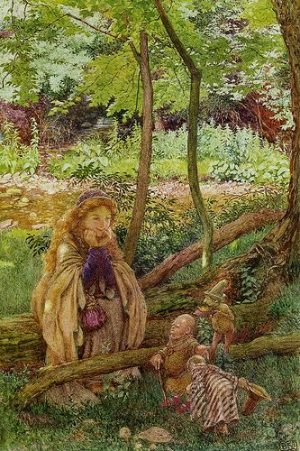 Eleanor Fortescue Brickdale (English, 1872-1945). The introduction. Watercolor and pencil.