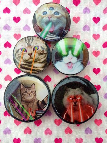 Laser Cat Plugs- 5mm-50mm (SOLD INDIVIDUALLY, NOT AS PAIR) | WTF PLUGS