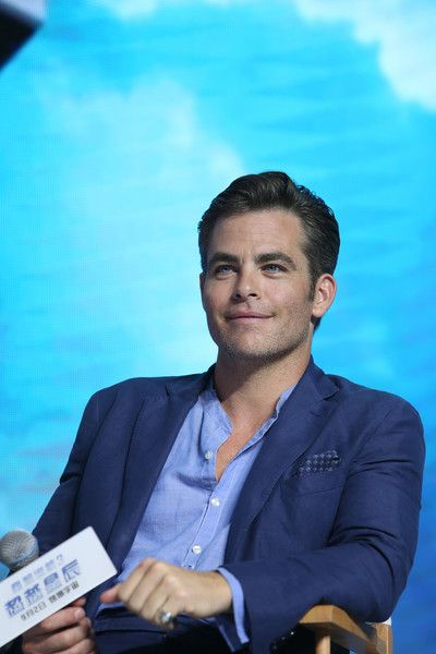 Chris Pine attends the press conference of the Paramount Pictures title 'Star Trek Beyond' in Beijing.