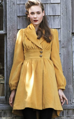 Anthropologie Tracy Reese Ruched Marigold Coat  Adorable!!!!!!!