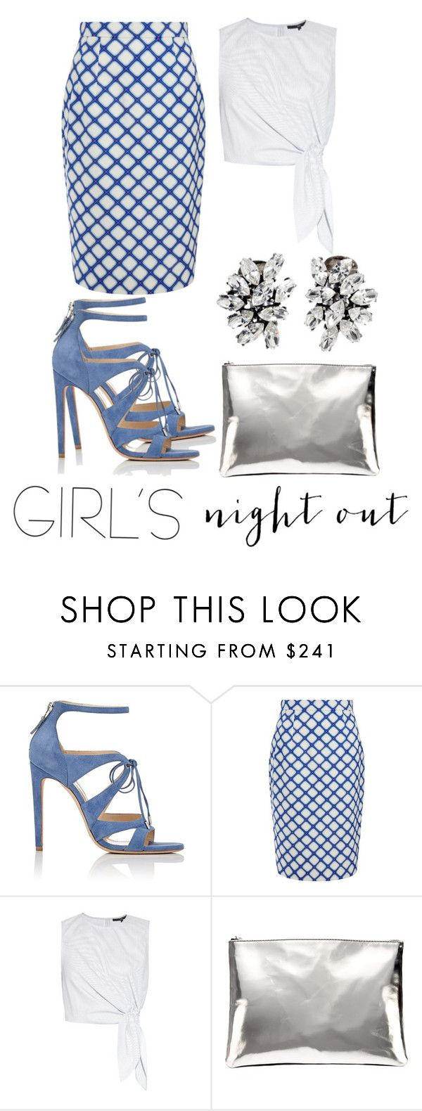 """Girl's Night Out."" by konstantinaaabour ❤ liked on Polyvore featuring Chloe Gosselin, Jonathan Saunders, TIBI, AB A Brand Apart and Ben-Amun"