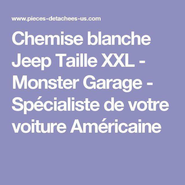 Chemise blanche Jeep Taille XXL  - Monster Garage - Spécialiste de votre voiture Américaine