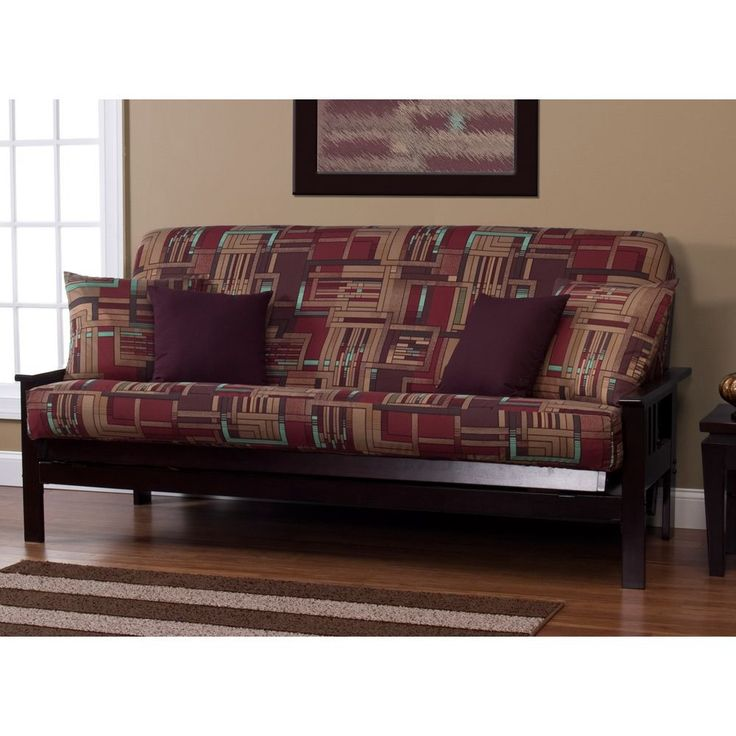 SIScovers Mission Statement Print Futon Cover (Full Size 7 Deep Futon  Cover), Brown
