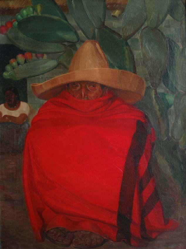 El sarape rojo (1918) Alberto Garduño -- El sarape es considerado como uno de los elementos más representativos de México. Ninguna escenografía, caracterización o fiesta mexicana está completa sin él.