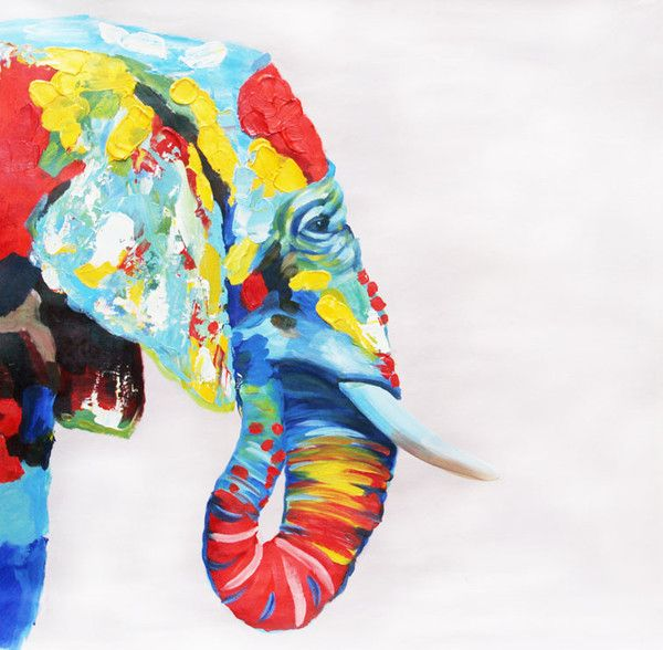 Colorful Elephant - Available for sale at creativestrokes.com.au