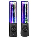 SoundSOUL Fountain Dancing Bluetooth Speakers, Black