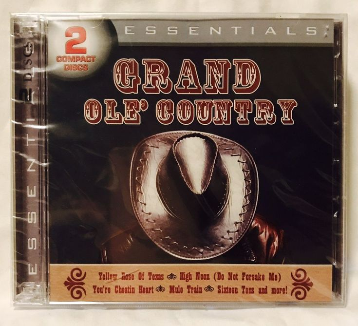 Grand Ole Country Essentials 2 CDs Tex Ritter Hank Williams Roy Rogers Burl Ives #EarlyCountry