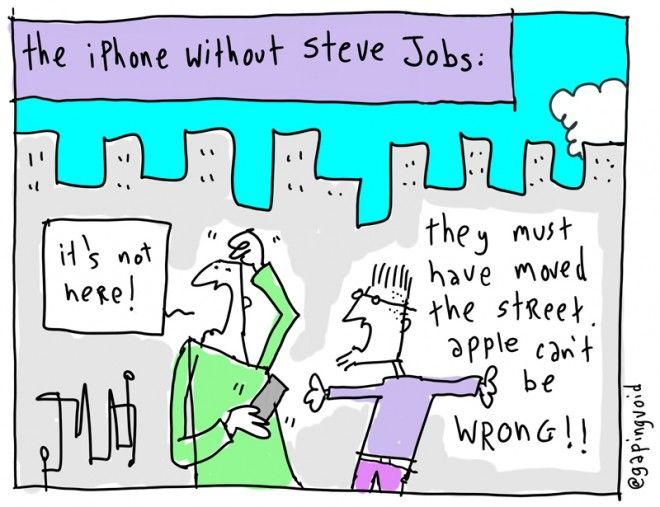 The iPhone without Steve Jobs... @gapingvoid