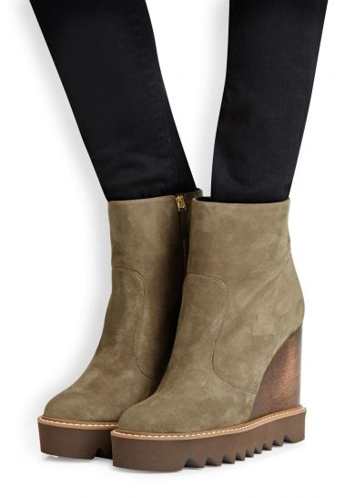STELLA MAcCARTNEY Laena taupe wedge boots - All Shoes - Women