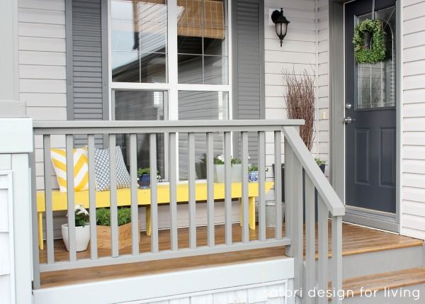 Spring Front Porch Decorating- Yellow, Blue and Green Front Porch   Satori Design for Living