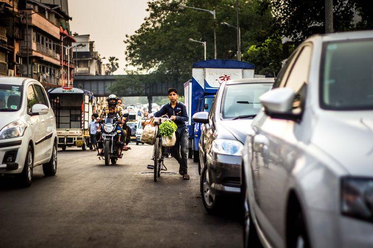 Before I knew it, Mumbai. - Early morning on the way to the market..he was already heading back. Mumbai | Golden hour