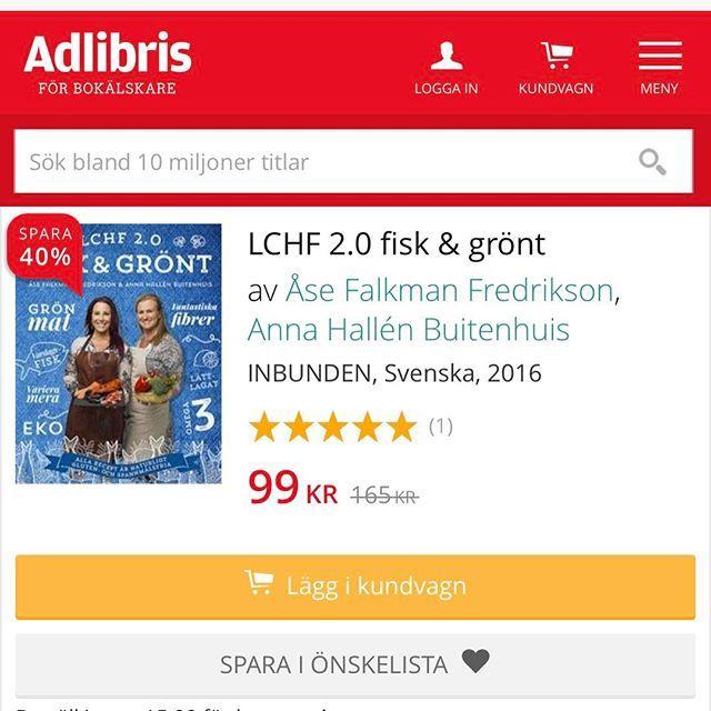 Tips! Adlibris har vryra priser! Min och annahallensinsta bok LCHFhellip