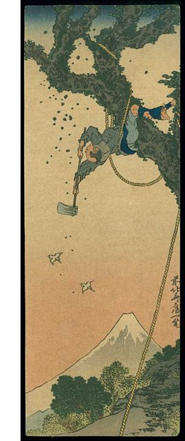 hokusai mountain woodcutter