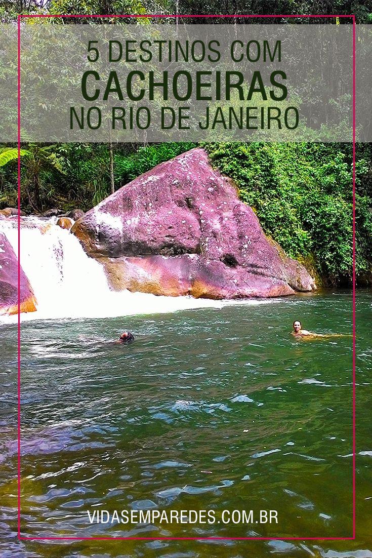 Conheça 5 destinos com cachoeiras no estado do Rio de Janeiro: Sana, Lumiar, Maromba, Maringá e Paraty.