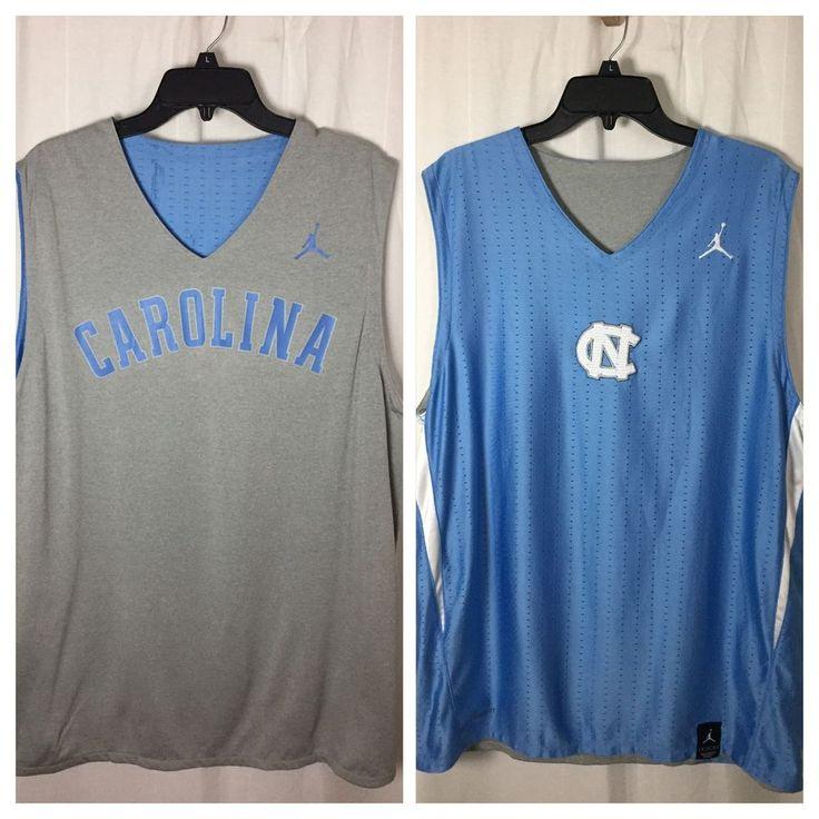 241p Nike Air Jordan NCAA UNC North Carolina Tar Heels Reversible Jersey M Top #AirJoirdan #NorthCarolinaTarHeels