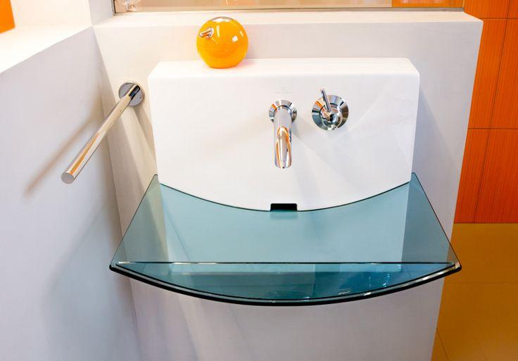 Glass sink.