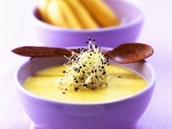 Feurige Bananensuppe aus der Karibik ist ein Rezept mit frischen Zutaten aus der Kategorie Südfrucht. Probieren Sie dieses und weitere Rezepte von EAT SMARTER!