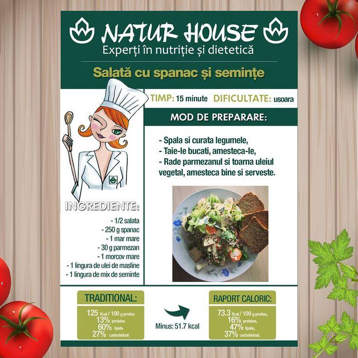 Reteta salata cu spanac si seminte Reteta: http://natur-house.ro/reteta/salata-spanac-seminte/