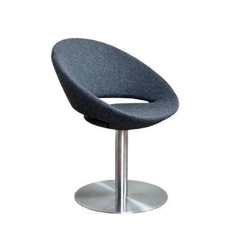 Crescent Round Swivel Chair