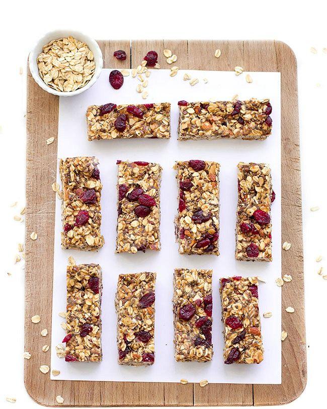 healthy no-bake granola bars